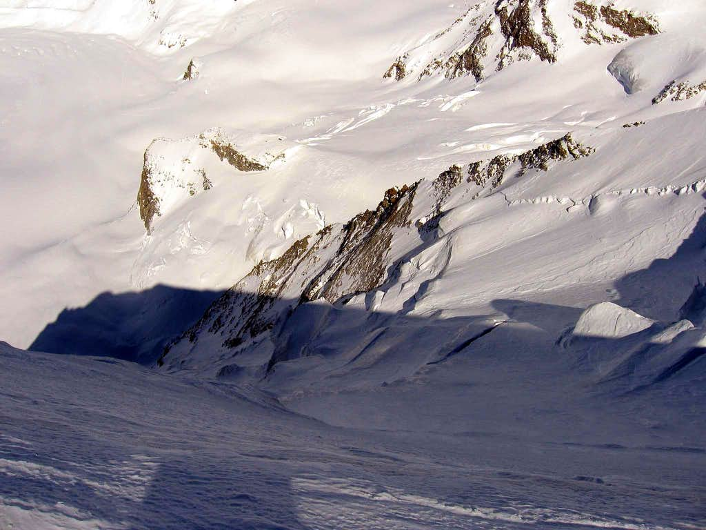 The north side of the east summit.