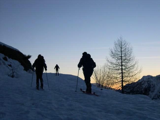 To Cima Piana near Mont Glacier