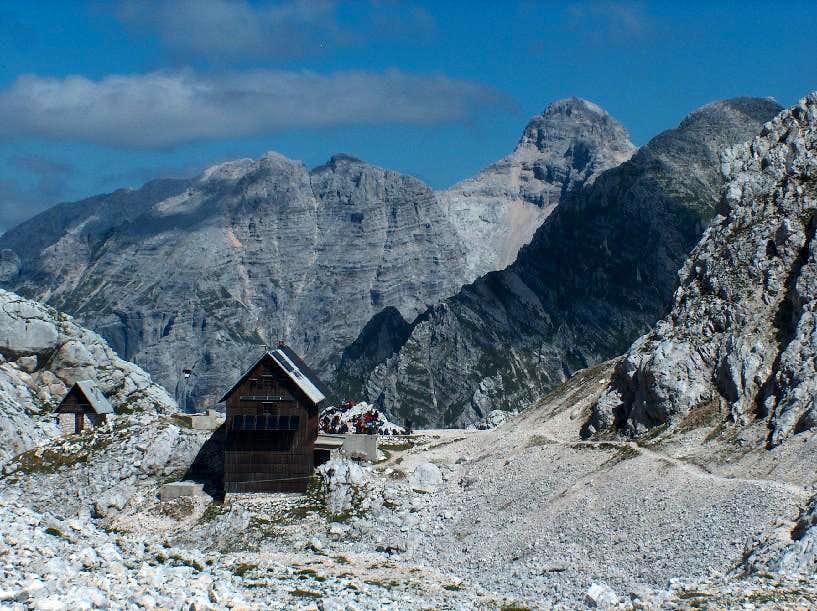 The hut Tržaška koča