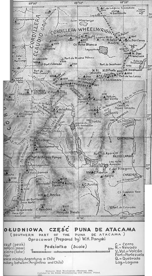 Historical map of the Puna