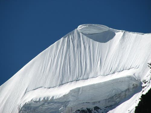 Snow meringue on Kaluxung North Ridge