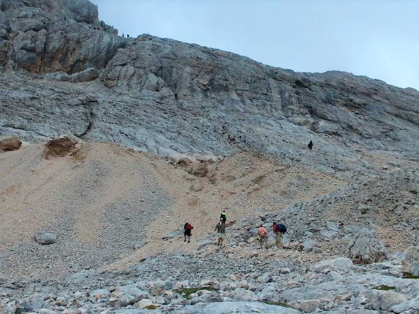 The base of the Triglav ridge, near Dom Planika