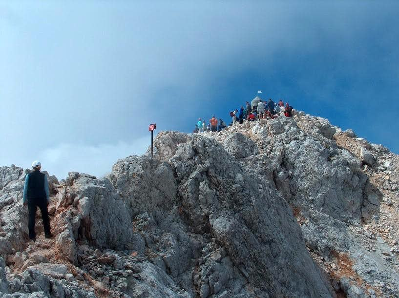On the Triglav ridge, near the summit