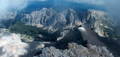 Going down the Triglav ridge