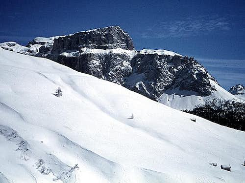 Sass Pordoi in winter