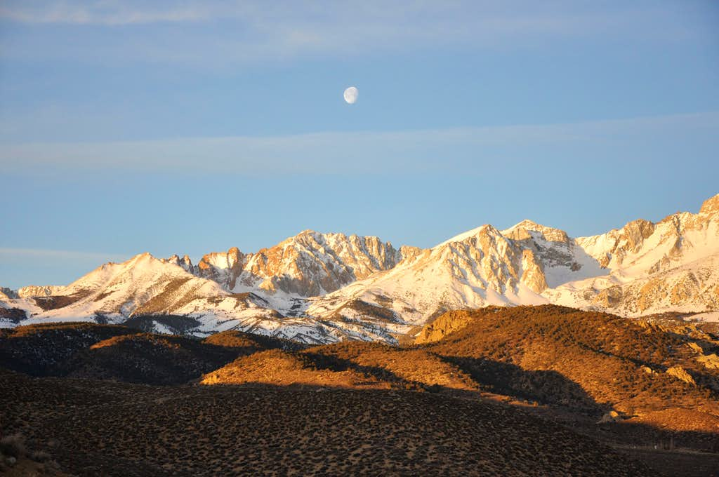 Moon over Mount Emerson