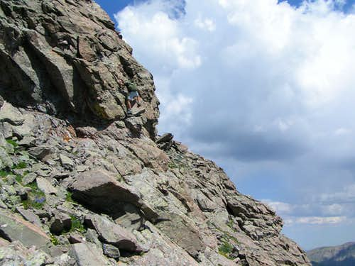 Crux of Direct West Ridge of Mount Adams