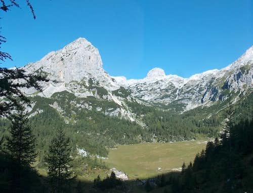 The Velska Dolina valley from Vodnikov Dom
