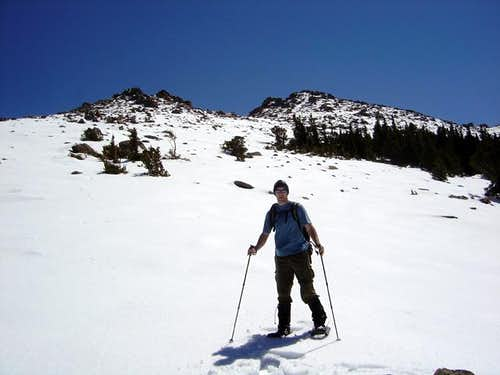 Me reaching timberline at the...