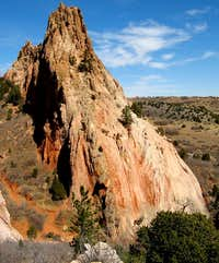 Climbers on Cathedral Rock
