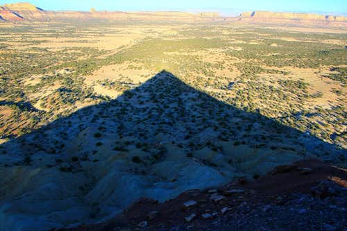 Morning shadows from the summit.