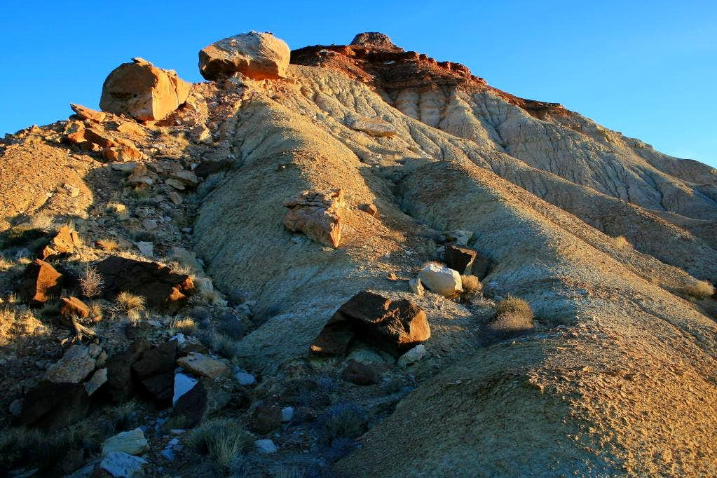 Early morning light on the Wickiup's south ridge.