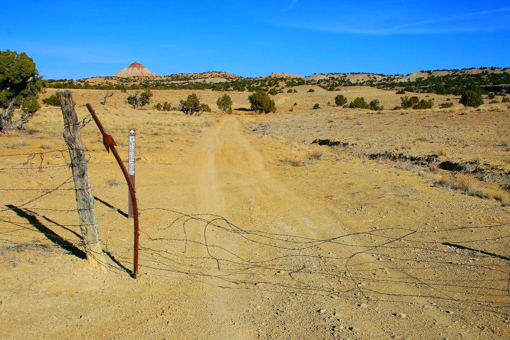 The gate along the road to the Wickiup.