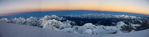 Sunrise from just below summit plateau