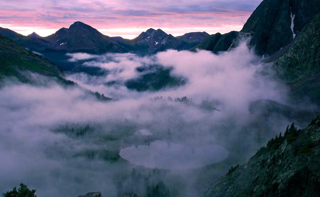 Sunrise in the Weminuche Wilderness
