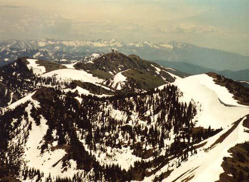 Looking south to Francis Peak.