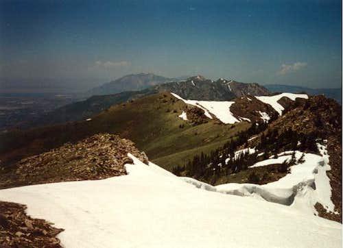 Summit view north.