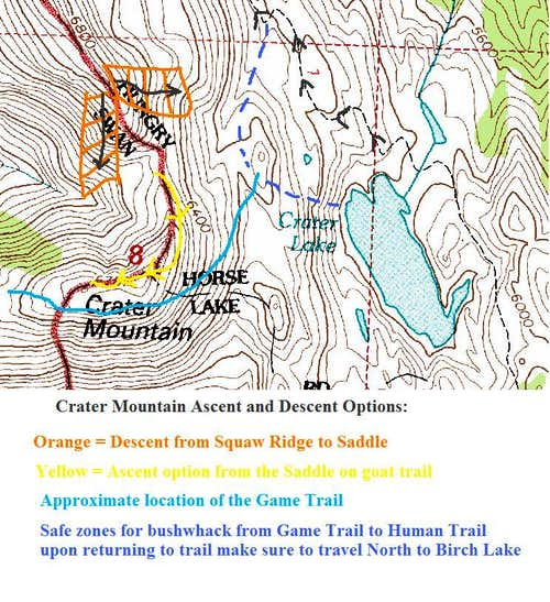 Crater Mountain Route Map