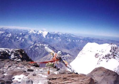 The summit of Aconcagua in...