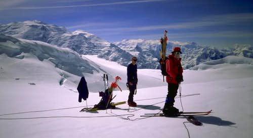Mt. Lucania is the big peak...