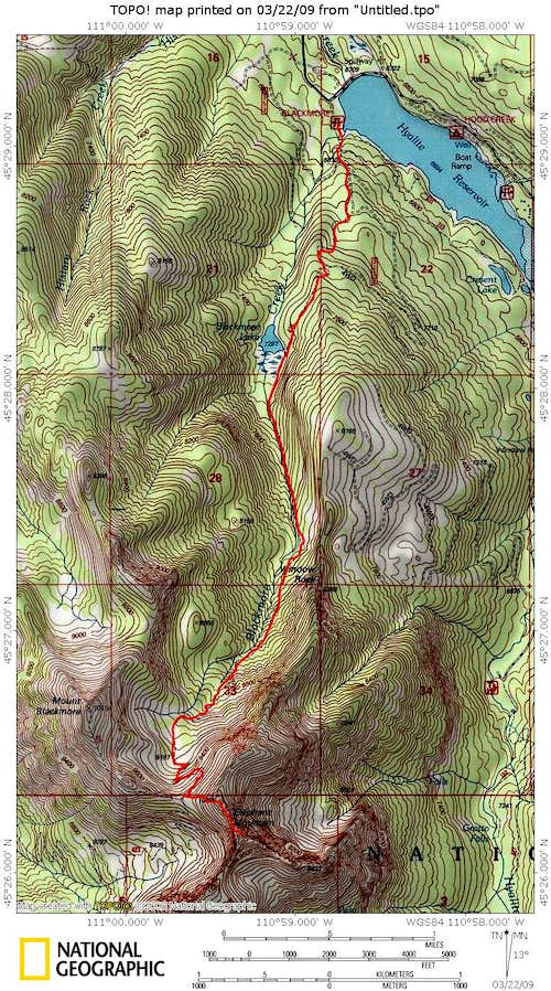 Topo with Route