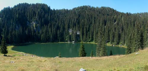 Jezero na planini pri Jezeru, the  lake of the pasture of the lake . Slovenians are logic :)