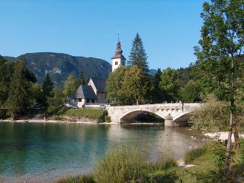 The church of Stara Fužina on Bohinj lake