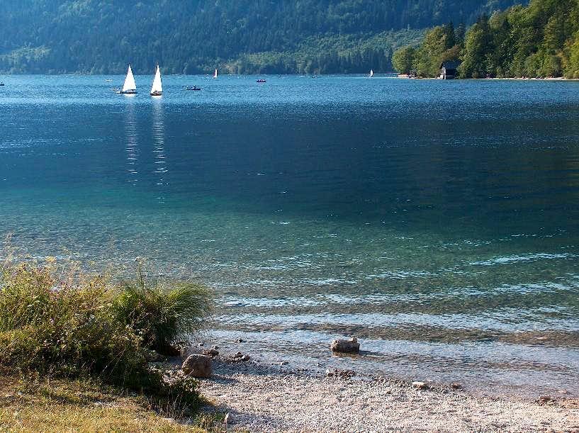 Bohinj lake in the evening