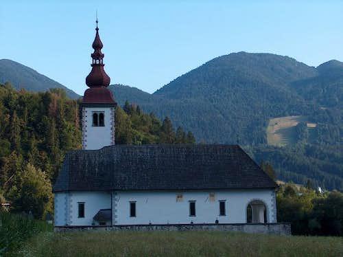 Slovenian church in Bohinjska Bistrica, near lake Bohinj
