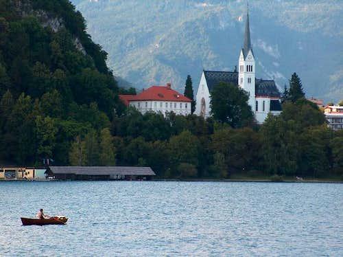 Slovenian church in Bled, near the lake (but not