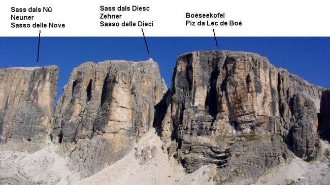 The three main summits of the...