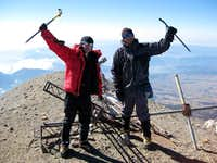 jesse and trevor on the summit of orizaba