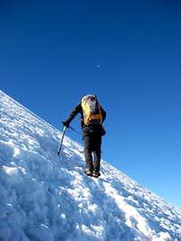 Jesse on the upper glacier