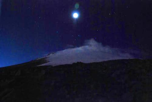 moonrise over the mountain of the stars