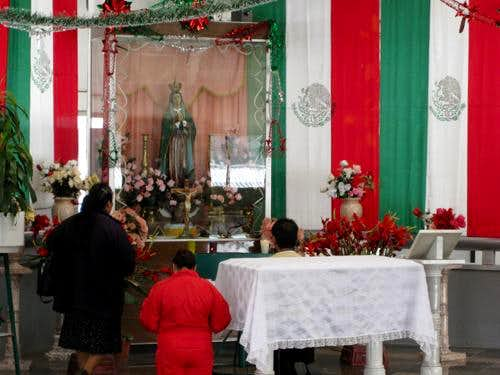 Prayer place in the Puebla Bus Terminal