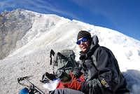 trevor at the glacier top