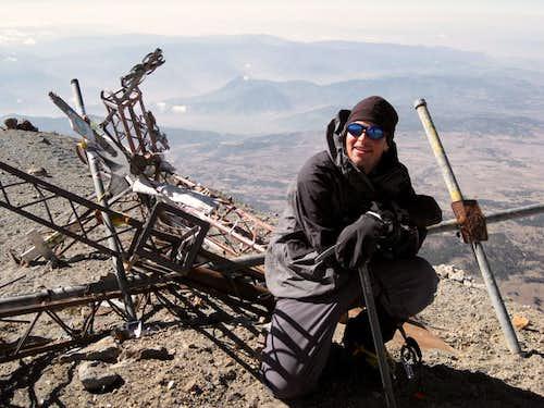 trevor on the summit of Orizaba