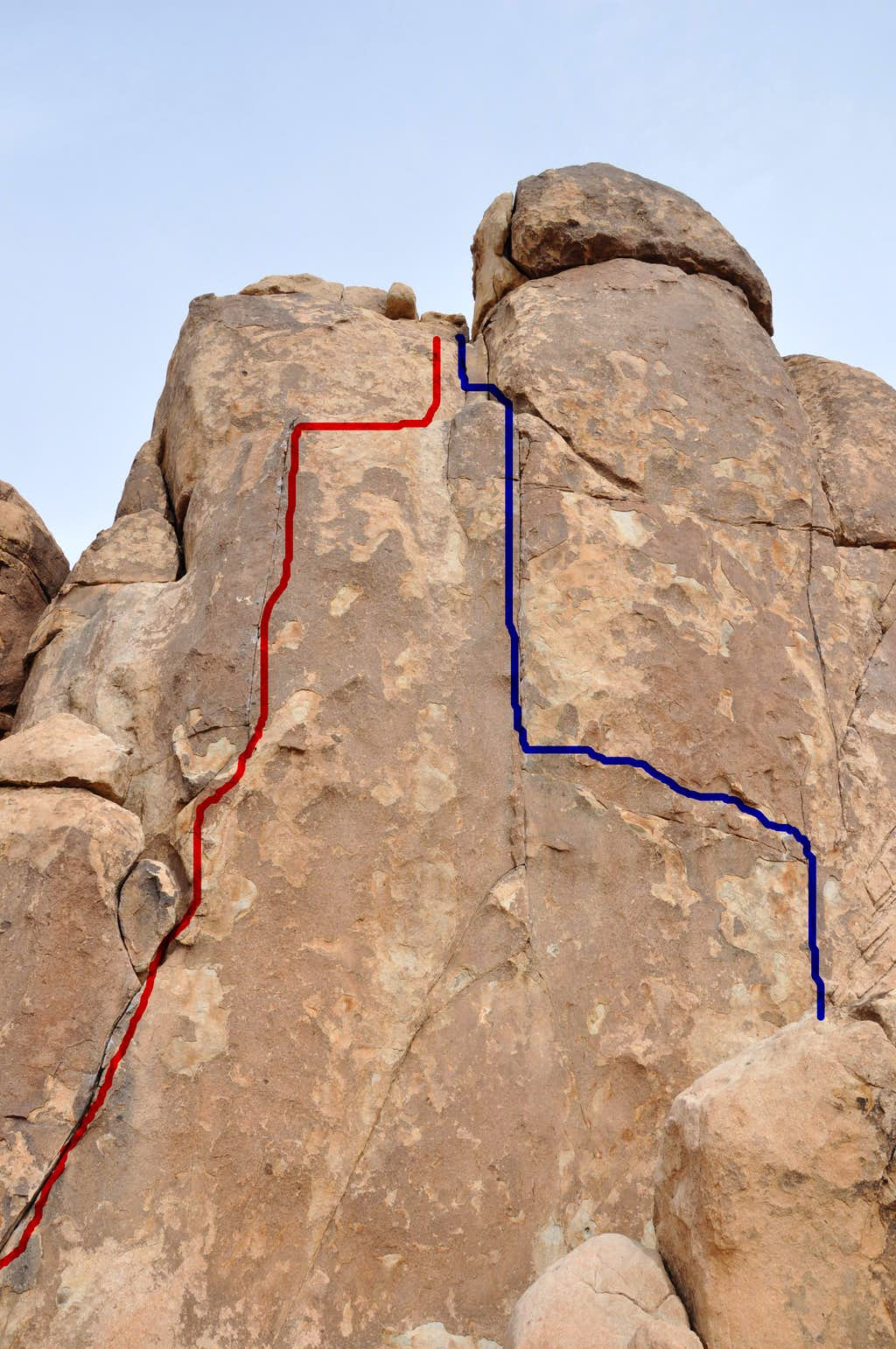 West Face of Sport Challenge Rock