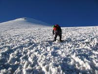Trevor on the Lower Glacier