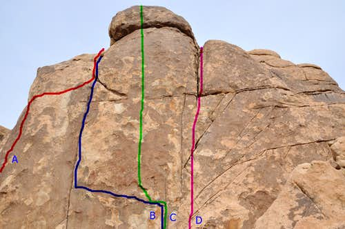 Climbs of the west face