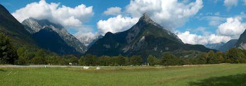 The Soča valley near Bovec