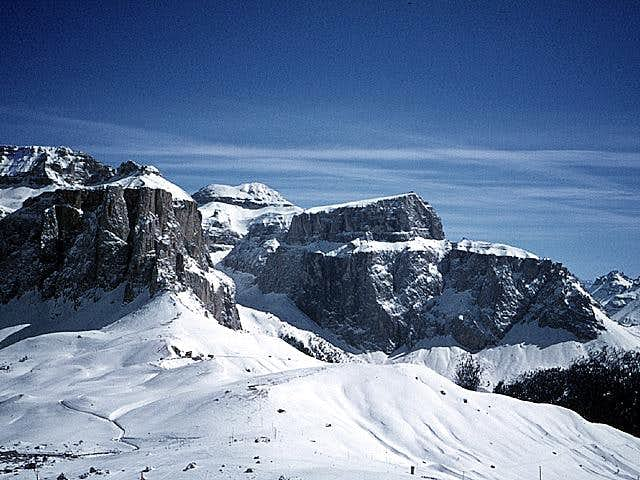 Sella group in winter -...
