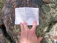 Spearhead Mountain Summit Register