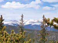 Toward the Continental Divide from Spearhead Mountain