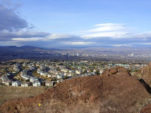View of Reno from the summit