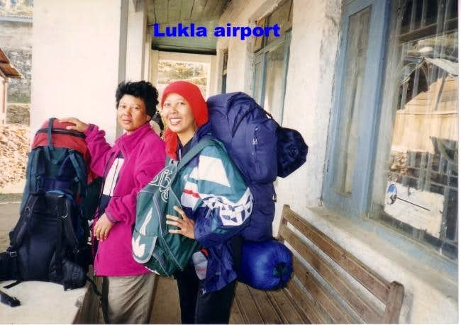 In Lukla airport