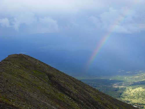 Rainbow On Humphreys Peak