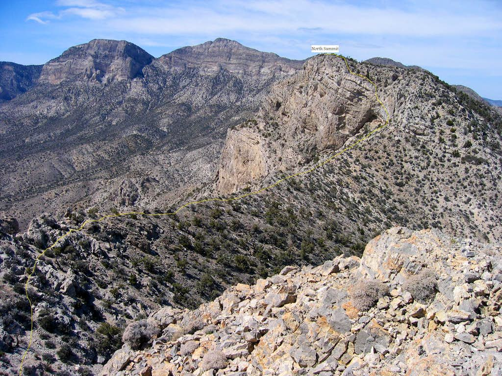 Route to North Summit