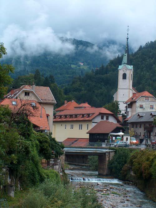 Tržič, Slovenian village nestled on the foot of the Alps