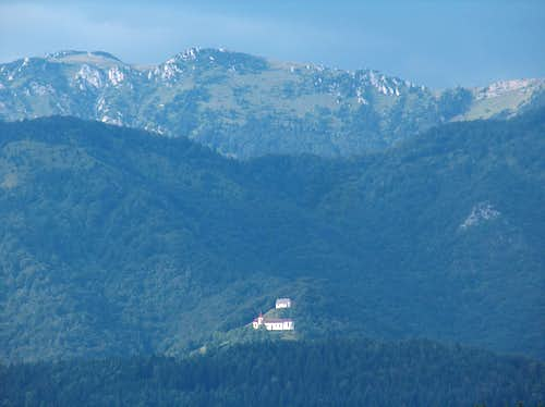 The St. Primož, church located on the trail going to Velika Planina, as seen from Kamnik